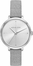 Michael Kors Charley Silver Leather Strap silver Dial MK2793 Ladies Watch - $93.51