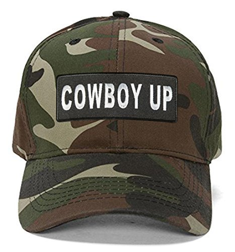 Cowboy Up Hat - Adjustable Cap (Camo)