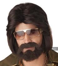 California Costumes Sexy 70's Man Perücke und Bart Set Halloween 70324 - £14.60 GBP