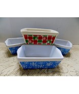 MICHAELS Stores Christmas Mini Stoneware Ceramic Loaf Baking Pan Dish, S... - $15.61