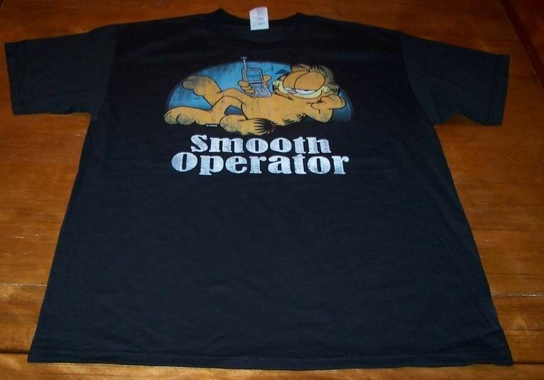 VINTAGE STYLE GARFIELD SMOOTH OPERATOR T-Shirt LARGE NEW