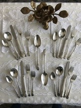 4! 5 Piece Settings Silver Plate Flatware Original Rogers Avalon 1940 - $44.06