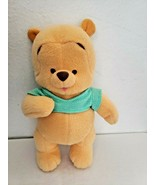 Fisher Price Baby Winnie the Pooh  2001 Green Shirt Rattle Plush Stuffed... - $26.71