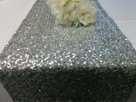 SEQUINS RUNNER COLORS Sizes Sequin Table Runner, Silver, Champagne, Gold... - $14.00