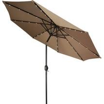 9 Ft Solar Powered LED Lighted Tan Umbrella Pat... - $95.03