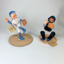 1992-93 Annalee Baseball Pitcher and Catcher Dolls  Set of 2.  - $54.45