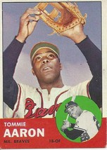 1963 Topps Tommie Aaron 46 Braves VG-EX - $2.00