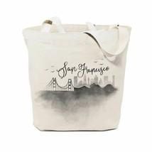 San Francisco Cityscape Cotton Canvas Tote Bag - $22.77