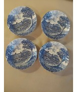 Shakespeares Country Blue Royal Essex Salad Soup Bowls Mary Arden's Hous... - $19.75