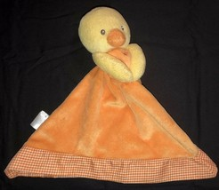 "Prestige Orange And Yellow Plush Duck Lovey Crib Toy 9"" - $6.65"
