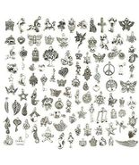 Wholesale Bulk Lots Jewelry Making Silver Charms Mixed Smooth Tibetan S... - £13.66 GBP