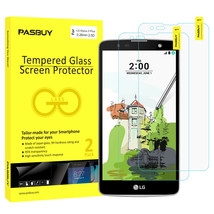 Screen Protector [2Pack PASBUY Retailbox] Tempered Glass for LG Stylus 2 Plus - $5.83