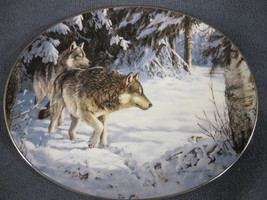 Broken Silence Collector Plate Winter Shadows Persis Clayton Weirs Wolves - $21.95