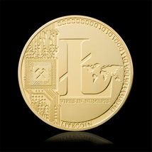 Gold Plated Commemorative Litecoin Collectible Golden Iron Miner Coin - One Item image 4