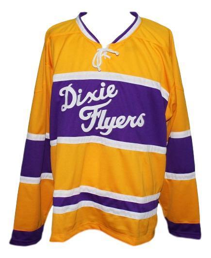 Custom nashville dixie flyers retro hockey jersey yellow   1