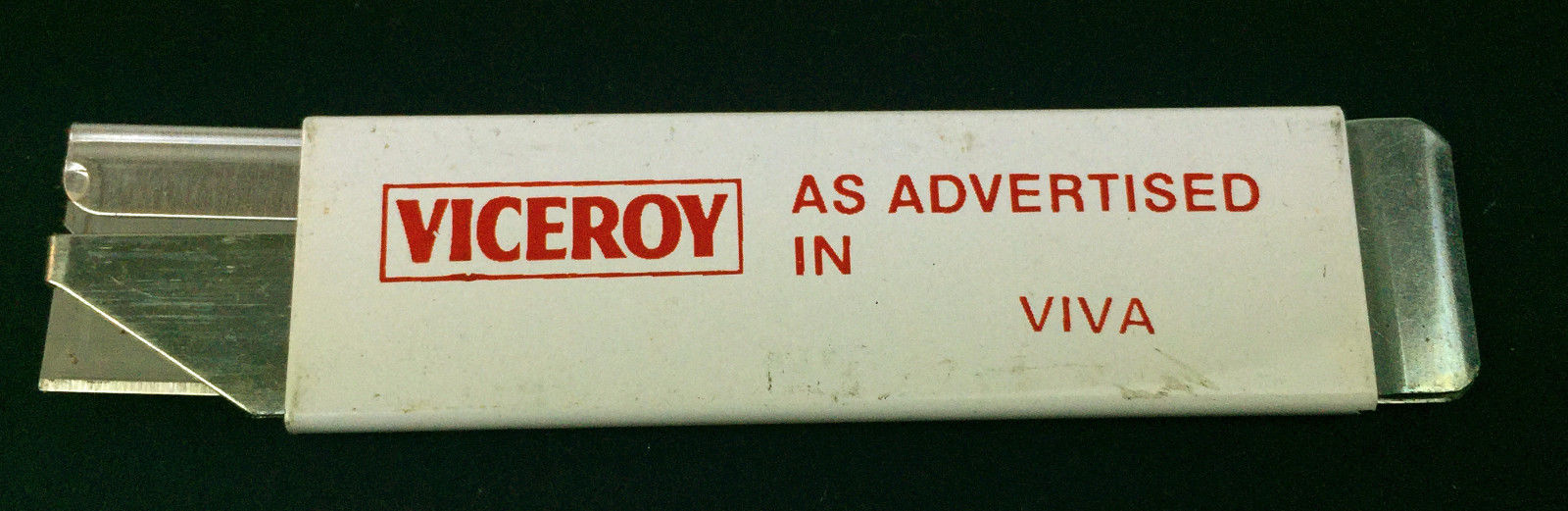 Primary image for Vtg Viceroy Cigarettes Viva Metal retractable Box Cutter Pacific Handy Cutter