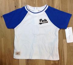 Ralph Lauren Boys' White Baseball Short Sleeve T-Shirt, Size 6 Months - $12.86
