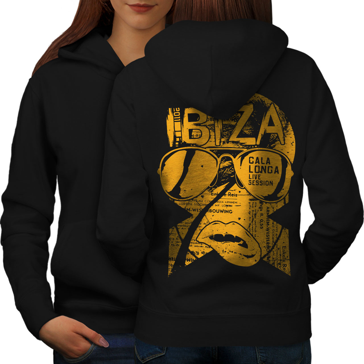 Primary image for Ibiza Party Live Holiday Sweatshirt Hoody Music Beats Women Hoodie Back