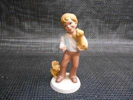 Old Vtg 1981 Avon BEST FRIENDS FIGURINE Statue Porcelain Bisque Boy Dog ... - $19.79