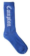 SSUR Azul Real Blanco Compton Tripulante Calcetines Nuevo Con Etiquetas