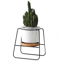 Planter Pots Indoor,6.30 inch Modern Plants and Planters Garden White Ce... - $13.19