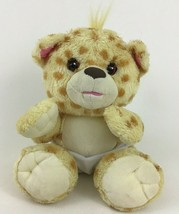 Fisher Price Snugglekins Cheetah Leopard Plush Stuffed Toy 2006 Moving Eyes - $17.77