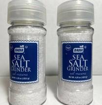 2 Badia Sea Salt ( Sal Marina ) With Grinder Mill Seasoning Coarse Grinds Finer - $16.36