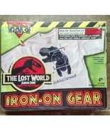 Sealed 1997 The Lost World Jurassic Park Iron On Gear for T shirts etc F... - $21.95