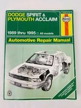 1989 to 1995 Dodge Spirit Plymouth Acclaim FWD Haynes Repair Manual 30030 - $12.64