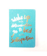 Glitter Journal Wake Up with Determination Go To Bed With Satisfaction Blue - $11.55