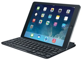 Logitech Ultrathin Keyboard/Cover Case for iPad Air - Gray - $57.65