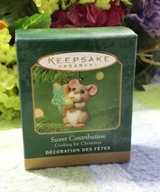 Hallmark Sweet Contribution 2001 Miniature Mouse ornament - $12.62