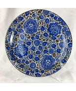 Takahashi San Francisco Hand Decorated Blue Floral Blossom Decorative Plate - $23.01
