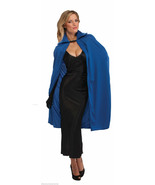 "45"" BLUE SATIN POLYESTER CAPE ANGEL DIVA MAGICIAN HALLOWEEN COSTUME ACCESSORY - $9.39"