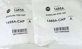 LOT OF 2 NEW ALLEN BRADLEY 1485A-CAP KWIKLINK END CAPS 1485ACAP SER. A