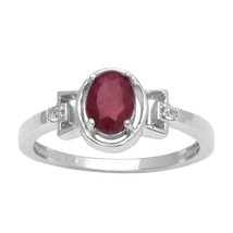 925 Silver Indian Ruby Gemstone Women Engagement Solitaire Wedding Band ... - $15.06