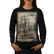 Old Classic Sailboat Jumper Huge Ship Women Sweatshirt - $18.99