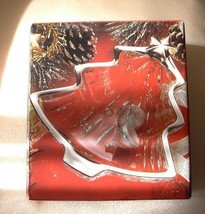 Studio Nova Christmas Tree Shaped Yuletide Silver Trimmed Glass Candy Dish-NIB - $6.99