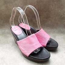 Aerosoles Womens Plank Stare  Sz 8.5 B Pink  Leather Slide Wedge Sandals - $27.99