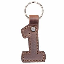 Hide & Drink, Leather Number Keychain/Key Ring/School & Office Accessories, Hand