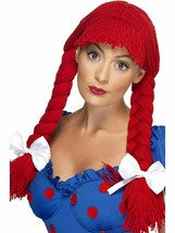 Smiffys Bambola di Pezza Raggedy Ann Pigtail Parrucca Adulto Halloween - £17.86 GBP