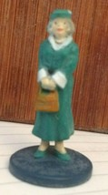 Clue board Game Parts Pieces Old Lady In Green Dress figure Only  - $3.46