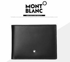 MontBlanc Men's Meisterstuck Black Leather Wallet 6cc #14548 image 2
