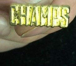 Vintage Champs Tie Tack Lapel Pin Gold Tone Rare Vintage COLLECTIBLE-SHIPS N 24H - $29.58