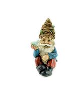 Gnome Holding a Bird, Fairy Garden Gnome, Bird Watching Gnome Miniature - $8.49