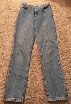 Womens CK Calvin Klein Classic 5 Pocket Double Stone Washed Jeans, Size 8x32 - $24.99