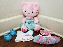 "Build A Bear Hello Kitty 17"" Pink Plush and Clothes Set - $19.34"