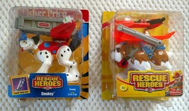 2 Rescue Heroes Dogs Toys WIND CHILL & SMOKEY New In Packages! - $40.00