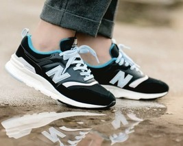 New Balance CW997HNB Black Blue Aqua Lifestyle Sneakers Womens 7.5 Fast Ship! - $68.60