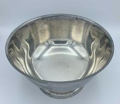 Vintage Serving Bowl Wm A Rogers Silverplate  Pedestal Dish Centerpiece Dish - $29.65